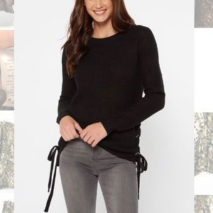 Authen Amer Heritage •Sweater W/ Lace Up Side Ties